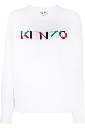 Kenzo Logo-embroidered round-neck sweatshirt