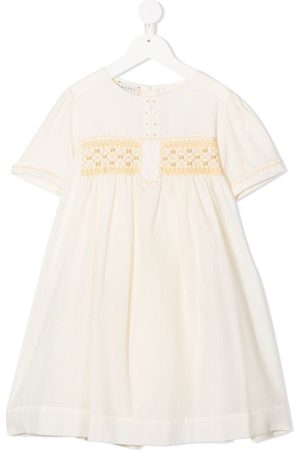 Gucci Embroidered motif detail dress
