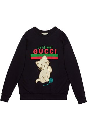 Gucci Kitten crew-neck sweatshirt