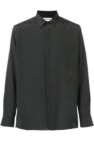 Saint Laurent Micro polka-dot print shirt