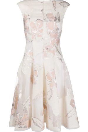 TALBOT RUNHOF Jacquard effect flared dress