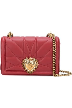Dolce & Gabbana Devotion heart lamb skin cross body bag