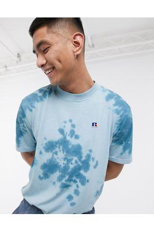 Russell Athletic Rock tie-dye t-shirt in blue