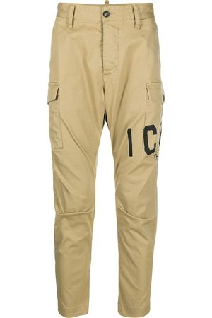 Dsquared2 Logo printed cropped cargo trousers