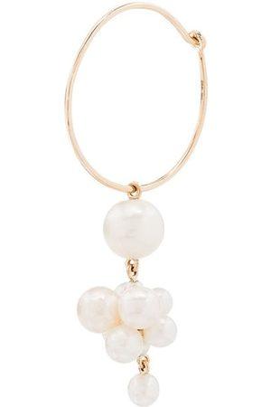 SOPHIE BILLE BRAHE 14K Botticelli pearl hoop single earring