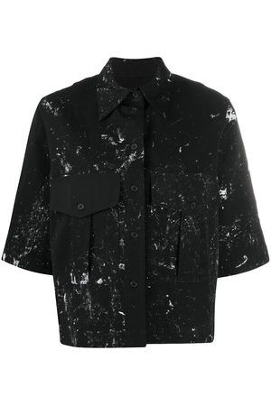SONG FOR THE MUTE Paint-splatter short sleeve shirt