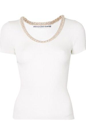 Alexander Wang Senhora T-shirts - Trapped chain T-shirt
