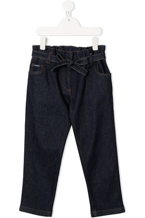 Dolce & Gabbana Tie-waist straight-leg jeans