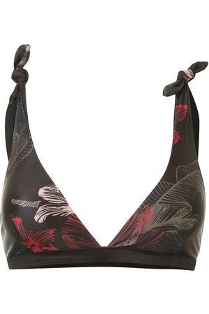 Duskii Fleur tie-up reversible bikini top