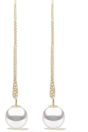 Yoko London 18kt yellow gold Novus South Sea pearl and diamond earrings