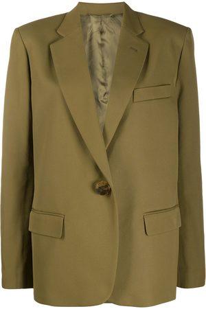 The Attico Plain single breasted blazer
