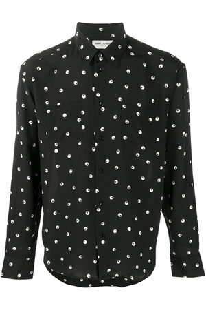 Saint Laurent Dot-print long-sleeve shirt