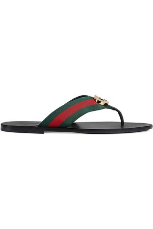 Gucci Striped logo-embellished sandals