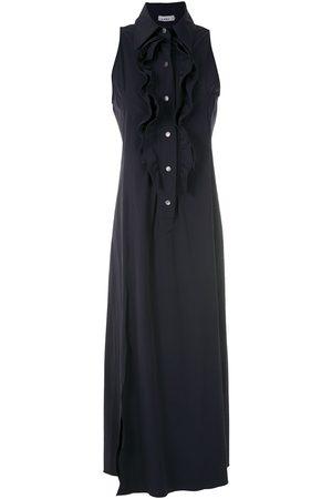 AMIR SLAMA Ruffled maxi dress