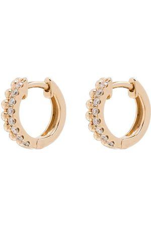 Dana Rebecca Designs 14K Poppy Rae diamond pebble huggie earrings