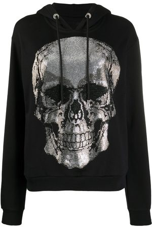 Philipp Plein Rhinestone skull hoodie