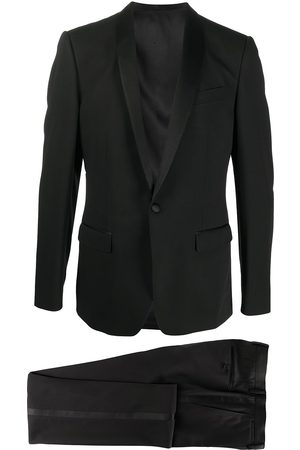 Dolce & Gabbana Wool-silk mix single breasted suit with shawl lapels