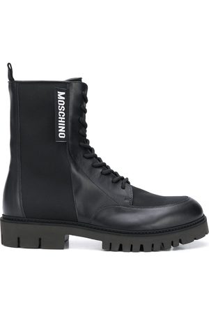 Moschino Logo patch boots