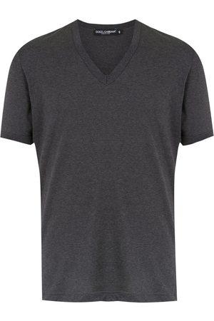 Dolce & Gabbana Homem T-shirts & Manga Curta - V-neck T-shirt
