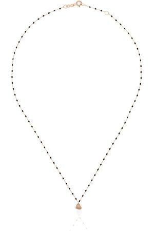 GIGI CLOZEAU 18kt gold Heart charm beaded necklace