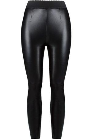 Dolce & Gabbana Senhora Calças em Pele - Leather leggings
