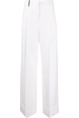 PESERICO SIGN Mid-rise wide-leg trousers