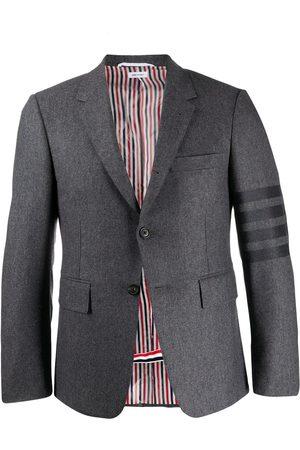Thom Browne Flannel classic tonal 4-bar sport blazer