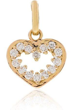 GIGI CLOZEAU 18kt diamond-embellished heart pendant