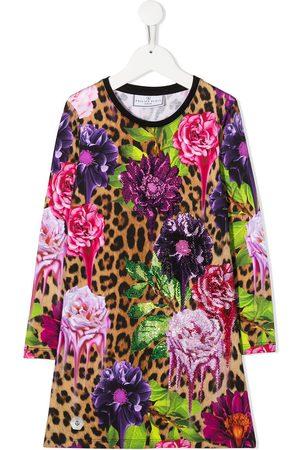 Philipp Plein Leopard floral print dress