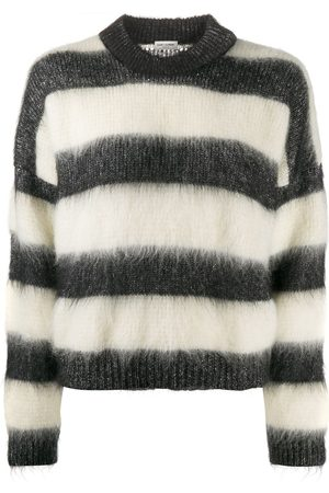 Saint Laurent Striped relaxed fit sweater