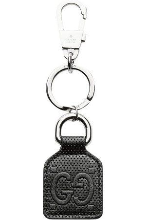 Gucci Homem Anéis - GG logo leather keyring