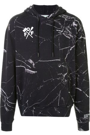OFF-WHITE Arrows marble print hooded sweatshirt