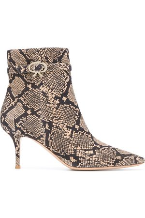 Gianvito Rossi Riccy snakeskin-effect ankle boots