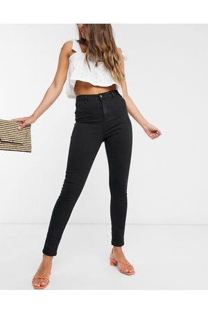 Urban Bliss High waisted skinny jeans in black