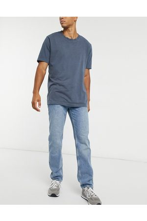 ASOS Original fit jeans in mid dirty stone wash blue