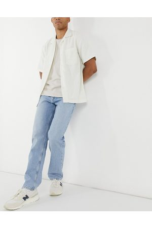 ASOS Original fit jeans in mid stone wash blue