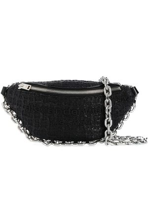 Alexander Wang Tweed crescent shoulder bag