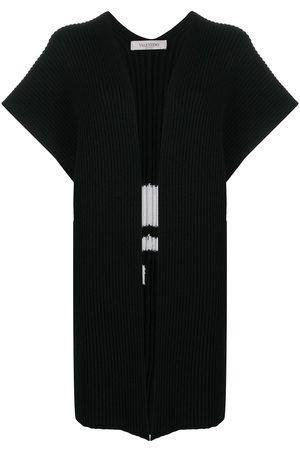 VALENTINO VLTN intarsia-knit poncho
