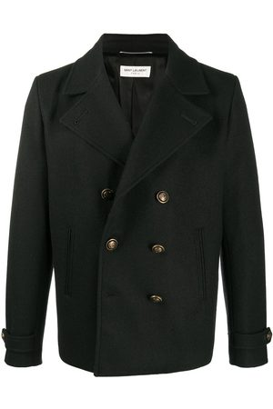 Saint Laurent Double-breasted short peacoat