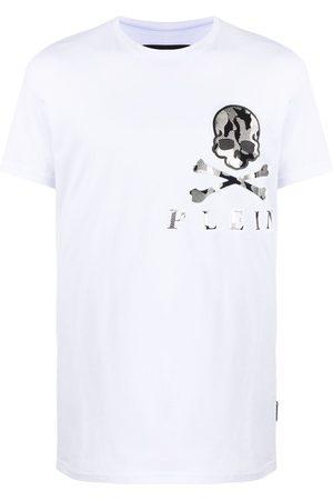 Philipp Plein Camouflage skull-print cotton T-shirt