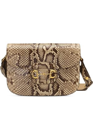 Gucci 1955 Horsebit snake-effect shoulder bag