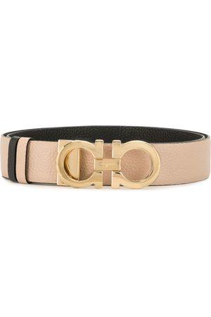 Salvatore Ferragamo Senhora Cintos - Gancini leather belt