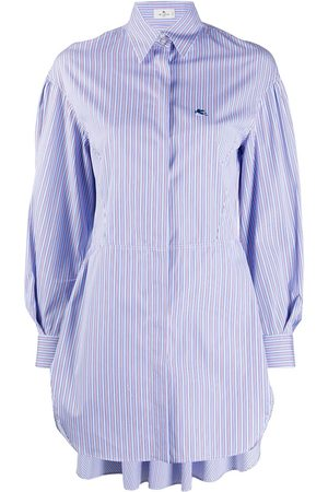 Etro Long-line striped shirt