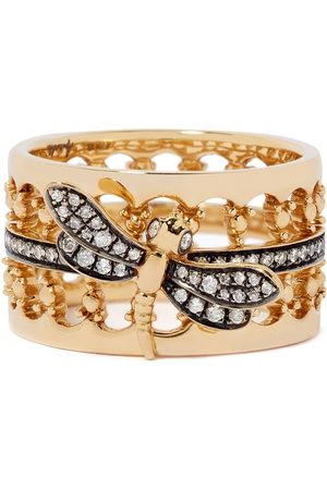 ANNOUSHKA 18kt yellow gold Dragonfly diamond crown ring
