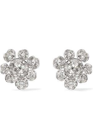 ANNOUSHKA 18kt white gold Marguerite diamond large studs