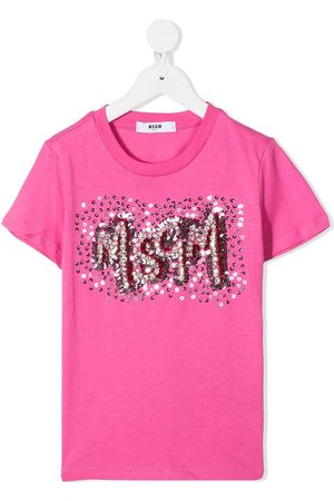 Msgm Sequin-embellished T-shirt