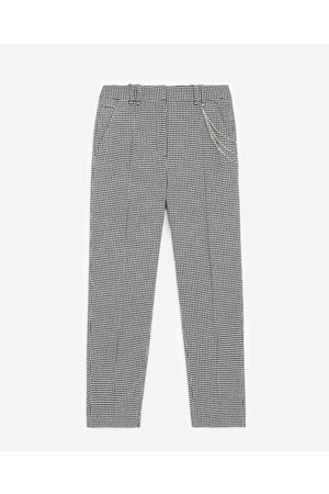 The Kooples Straight-cut houndstooth trousers