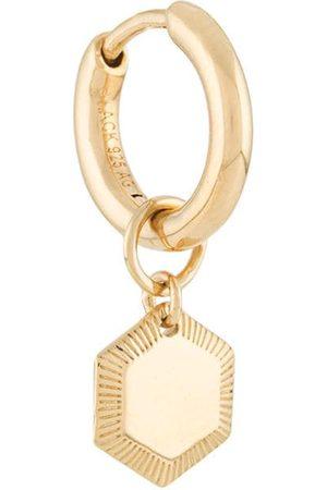 Maria Black Pendant mini hoop earring