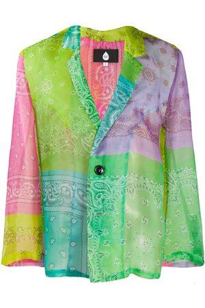 DUOltd Paisley colour-block blazer