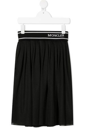 Moncler Logo waistband pleated skirt